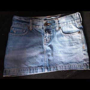 Abercrombie girl's jean skirt